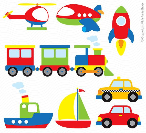 570x521 Transportation Clipart, Printable, Instant Download, Png Files