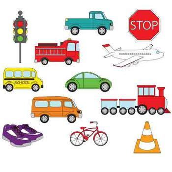 350x350 Transportation Clip Art By Kindergarten Supplies Tpt