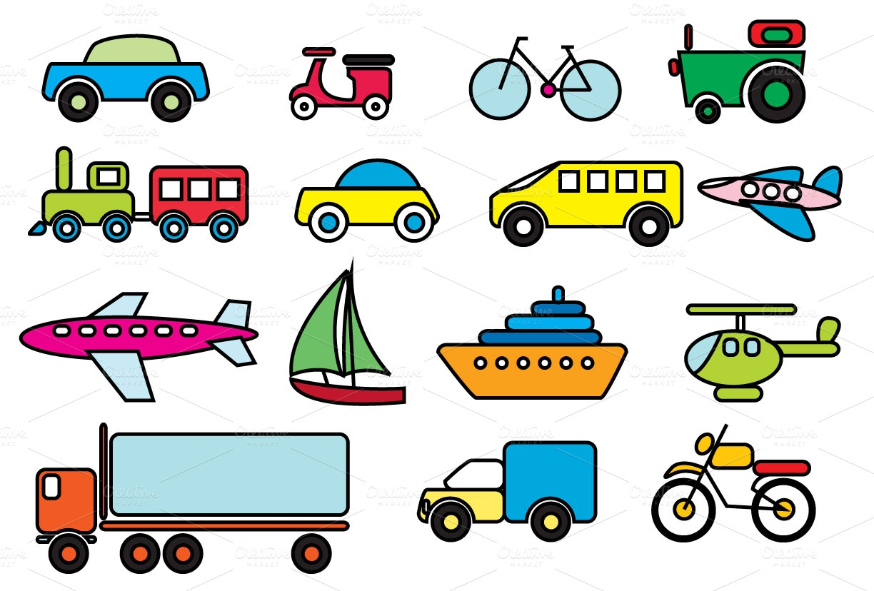 1224x828 Awesome Transportation Clipart Design