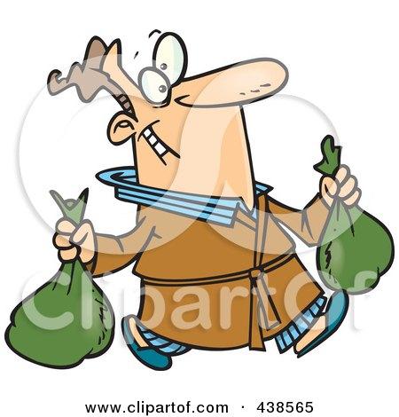 450x470 Royalty Free (Rf) Clip Art Illustration Of A Cartoon Happy Garbage