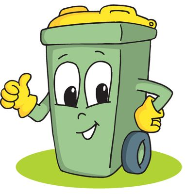 381x400 Awesome Garbage Can Clipart