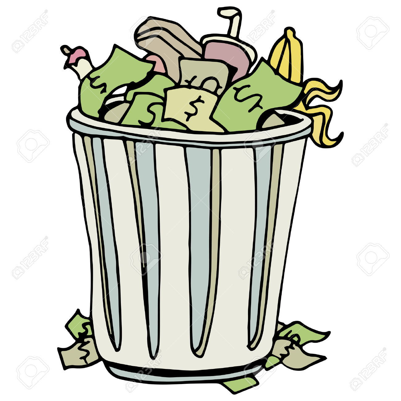 1300x1300 Clip Art Clip Art Trash Can