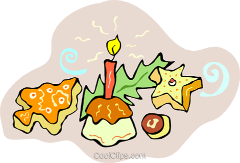 480x327 Christmas Cookies And Treats Royalty Free Vector Clip Art