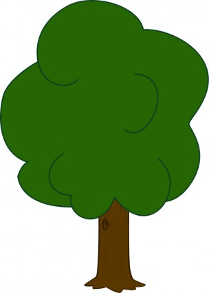 304x425 Free Oak Tree Clip Art Image