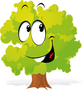 276x298 Happy Cartoon Tree Clip Art