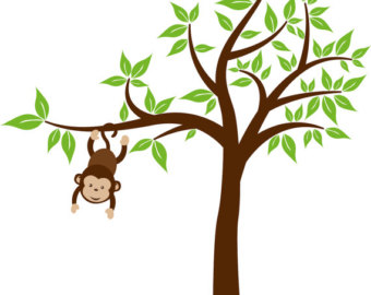 340x270 Monkey Hanging From Tree Clip Art Clipart