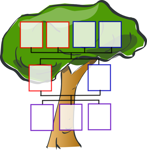 588x597 Totetude Family Tree Three Kids Clip Art