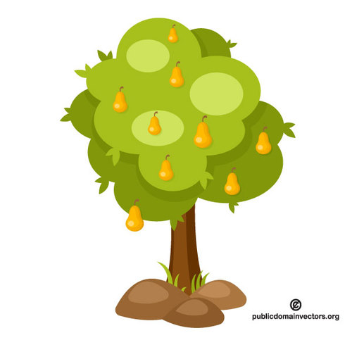 500x500 14402 Free Clipart Tree With Roots Public Domain Vectors