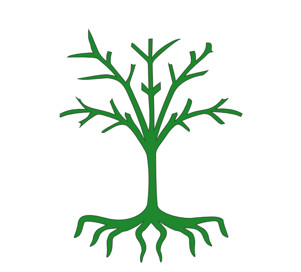 600x542 Tree With Roots Clip Art