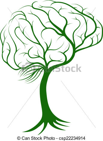 343x470 Brain Tree Concept Of A Tree With Roots Growing In The Shape