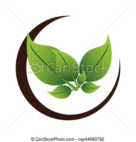 450x470 Half Border With Leaves Tree Plant Vector Illustration Vector
