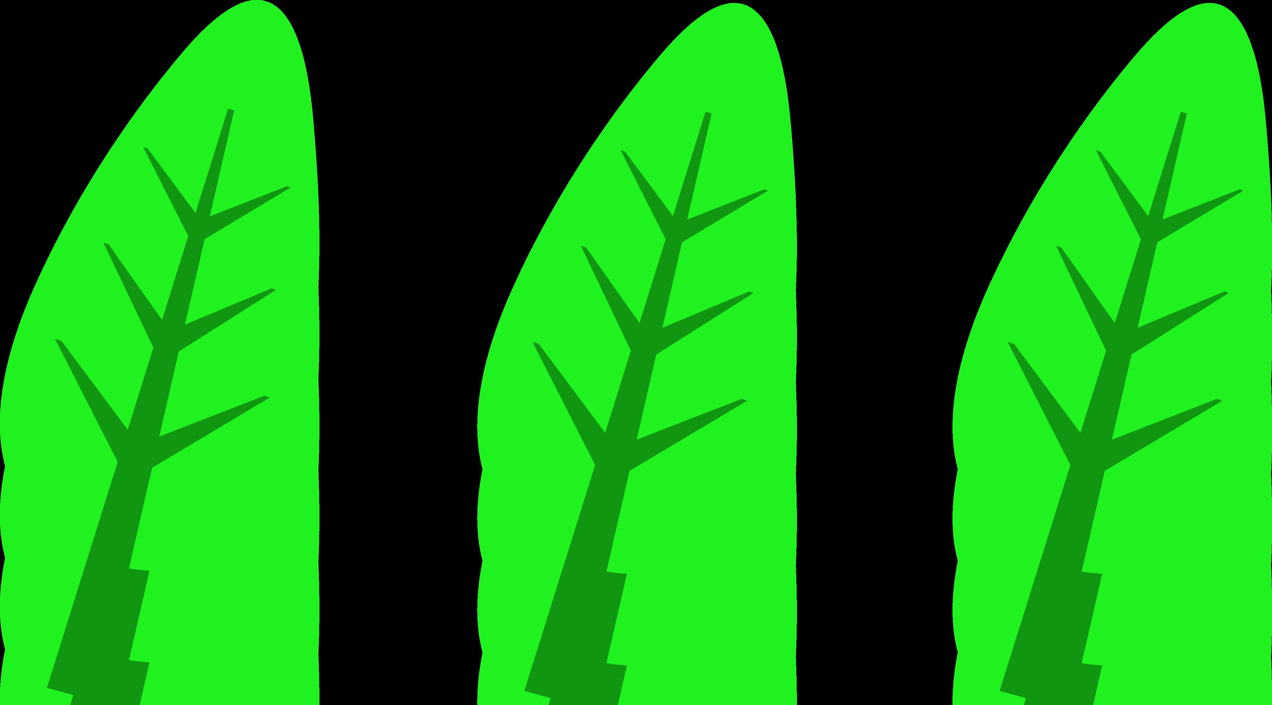 4260x2362 Three Green Leaves Logo