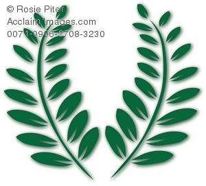 300x271 Two Green Fern Fronds Royalty Free Clip Art Picture