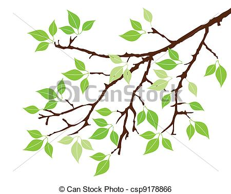 450x378 Branch Clipart Tree Branch Vector Tree With Green Leaves Clip Art