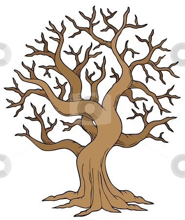 379x450 Brown Tree Without Leaves Clipart
