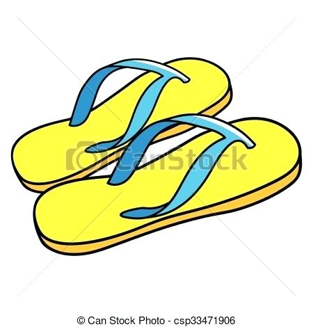 450x470 Cartoon Flip Flops Clip Art Vector Color Cartoon Slippers Color