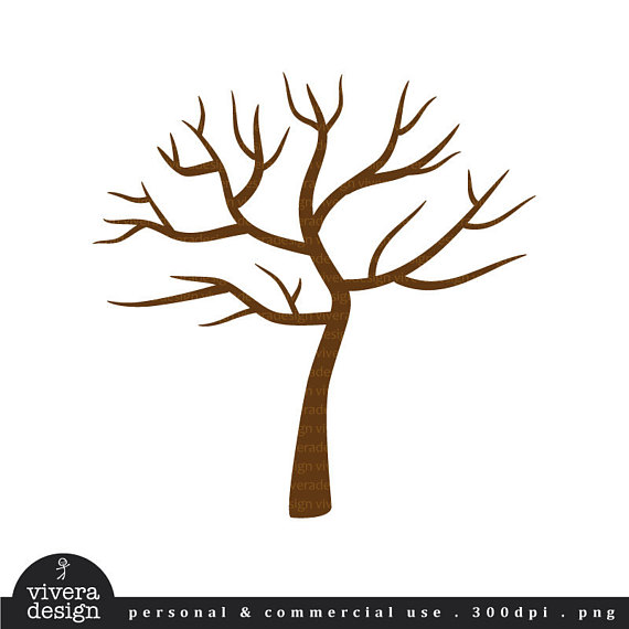570x570 Digital Clip Art Tree With No Leaves Winter Tree Perfect