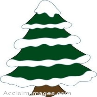 400x400 Winter Pine Tree Clip Art
