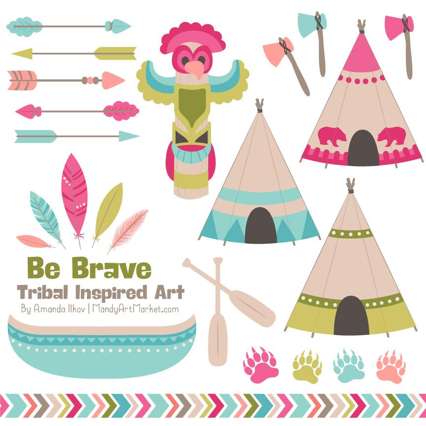 864x864 Bohemian Tribal Clipart