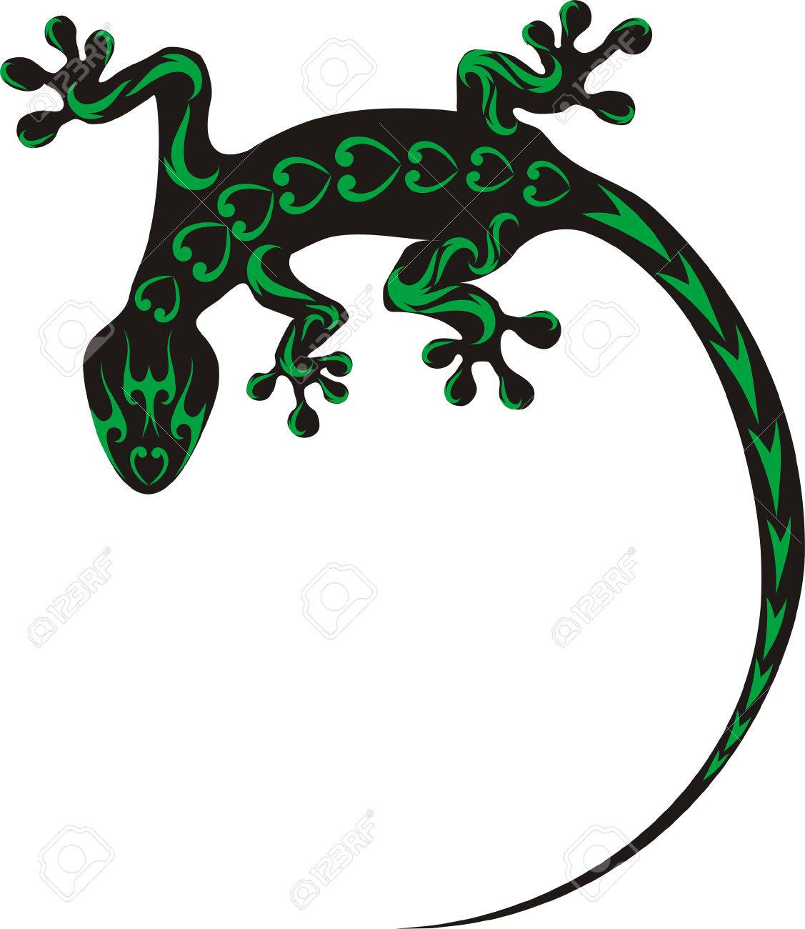 1127x1300 Gecko Clipart Tribal Animal