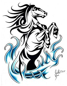 236x302 Horse Dolphin And Wolf Celtic Tribal Tatoo All My Favorite
