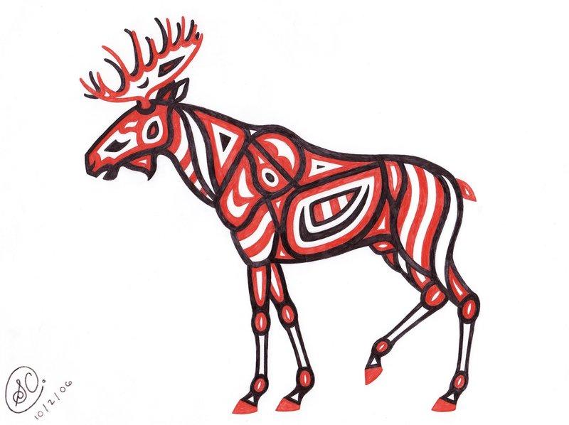 800x598 Native American Moose By Sarachristensen