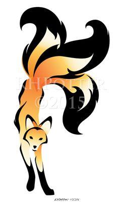 236x414 Tribal Fox By Elemental War