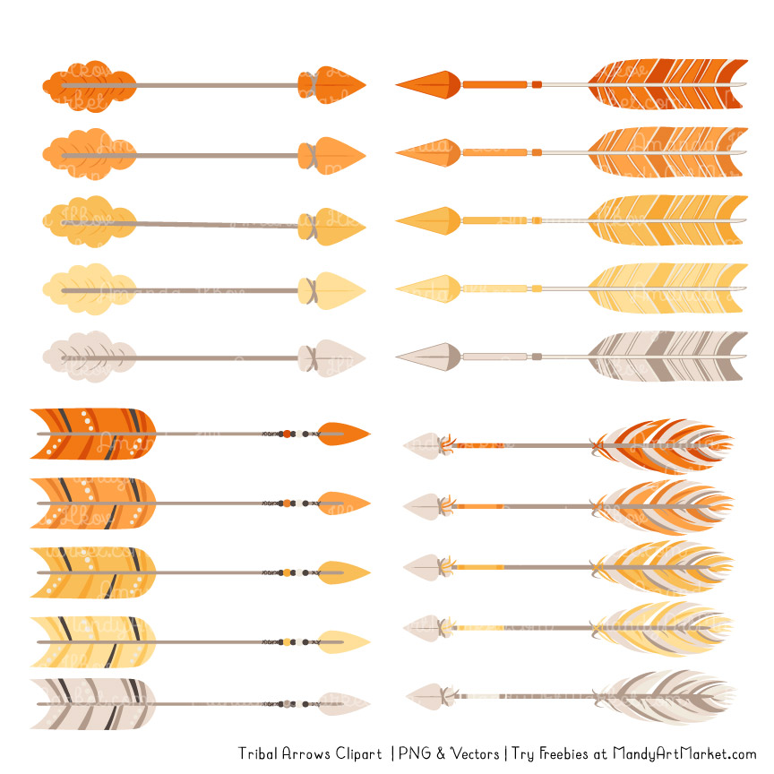 864x864 Sunshine Tribal Arrows Clipart