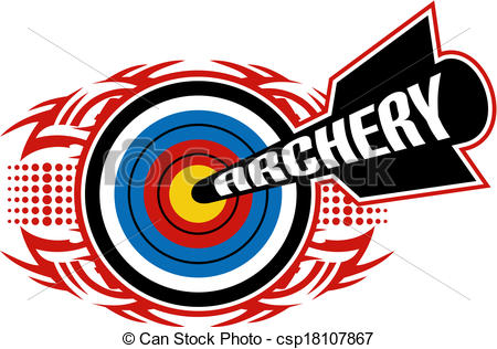 450x316 Tribal Archery Design Clip Art Vector