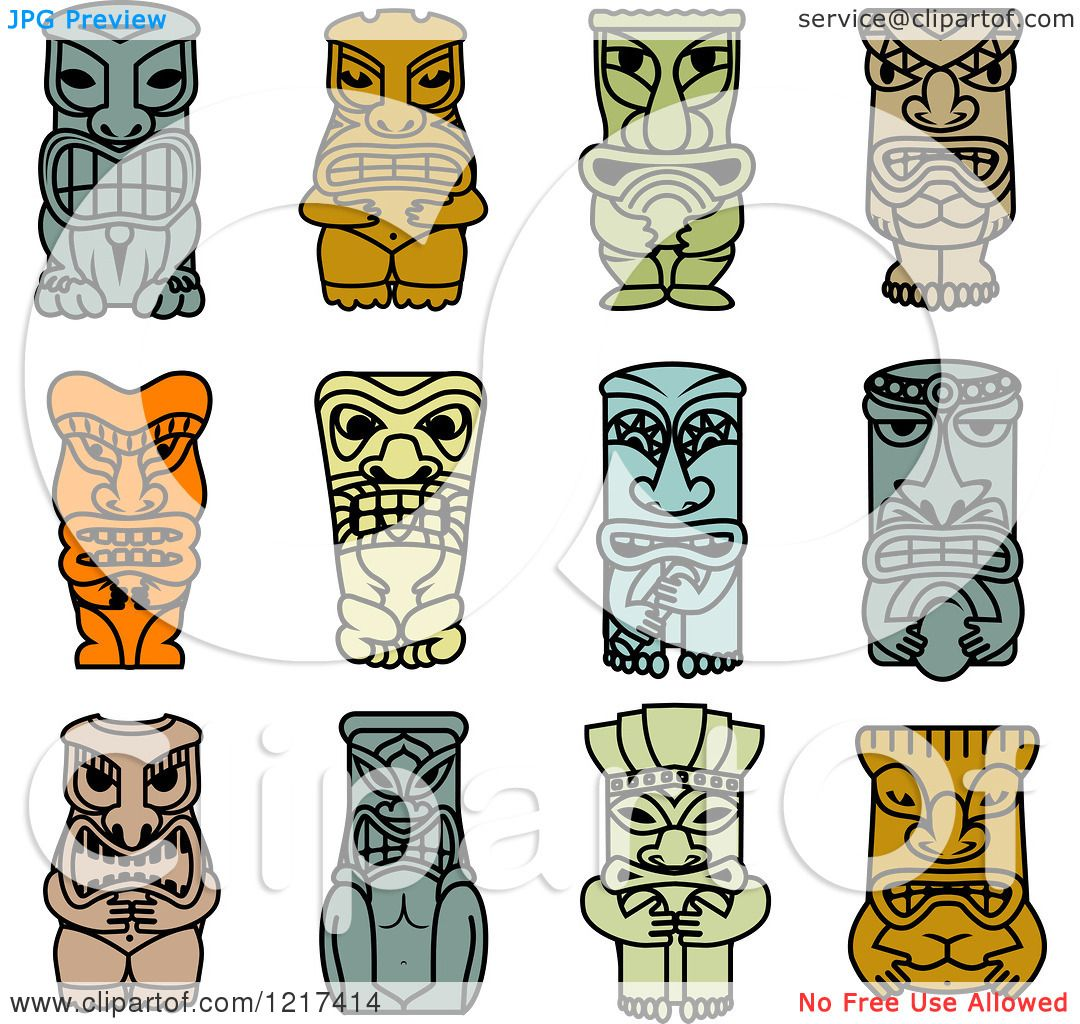 1080x1024 Clipart Of Idol And Demon Tribal Masks 2