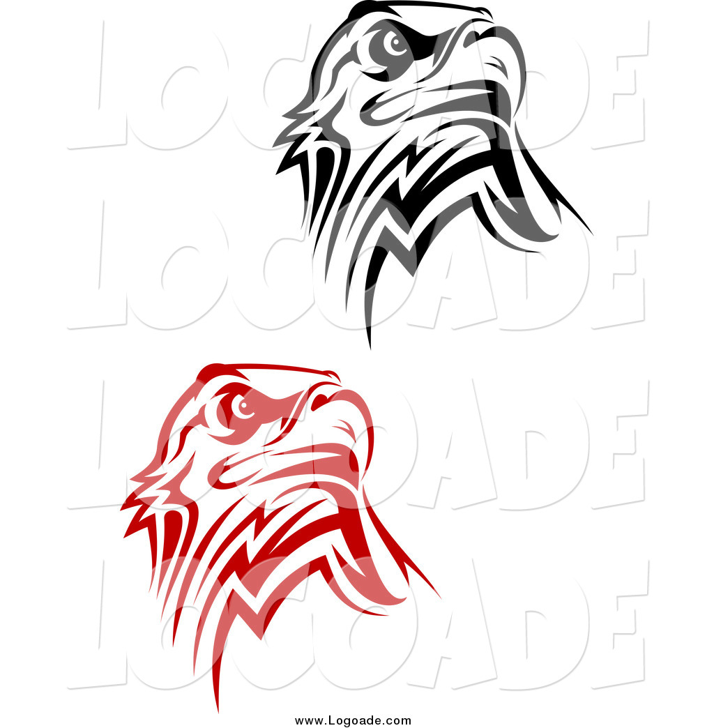 1024x1044 Clipart Of Tribal Eagle Logos By Vector Tradition Sm
