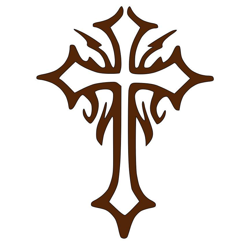 864x864 Beast Clipart Tribal Cross