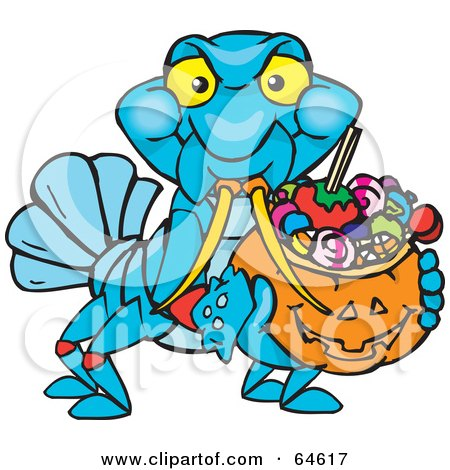 450x470 Royalty Free (Rf) Clipart Illustration Of A Trick Or Treating