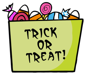 300x262 Trick Or Treat Cartoon Clipart Image