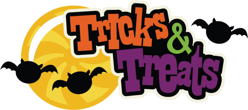 800x357 Tricks Or Treats Trick Or Treat Word Clipart Free Clip Art Images