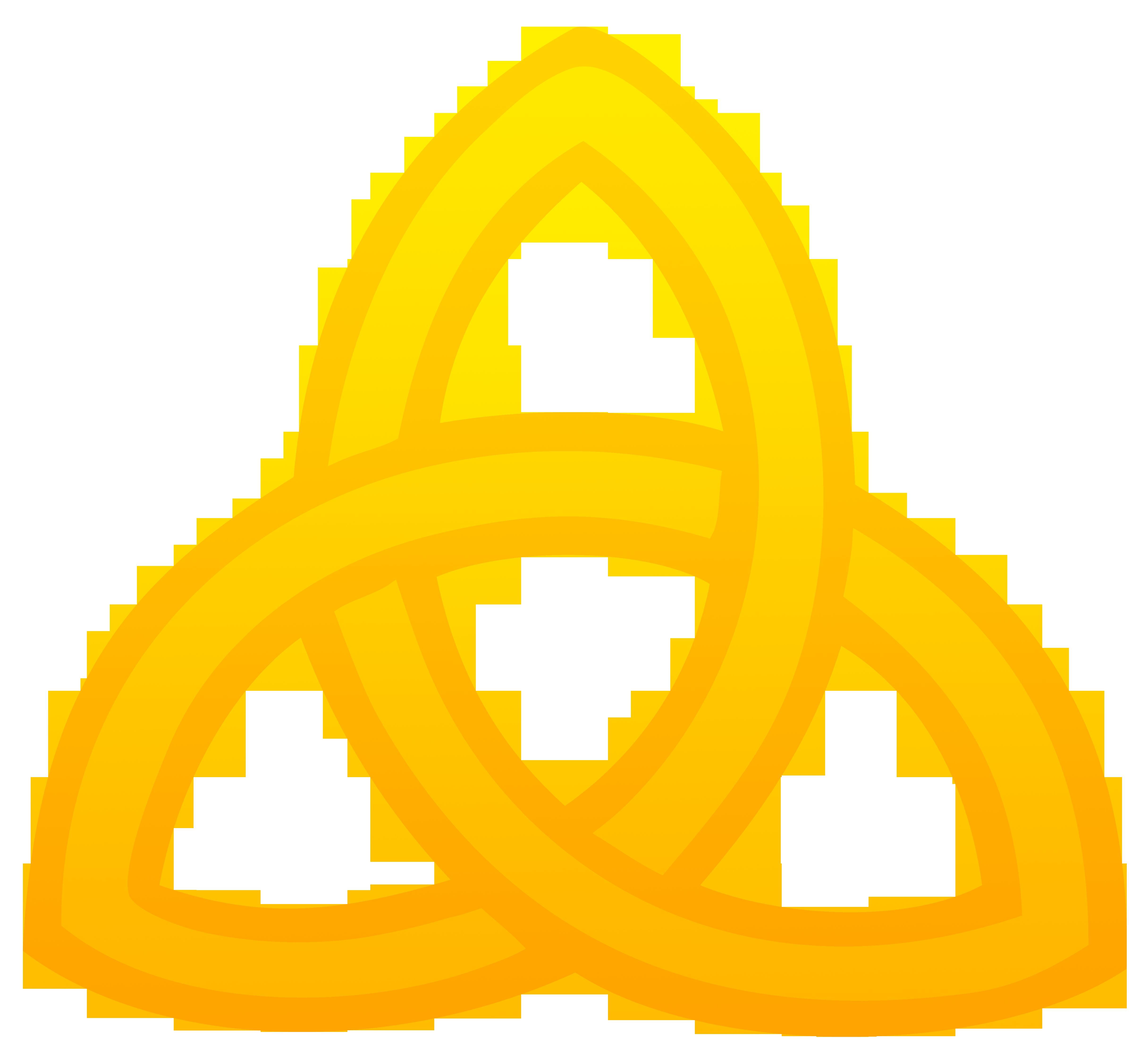 4864x4476 Triquetra Symbol Golden Clip Art