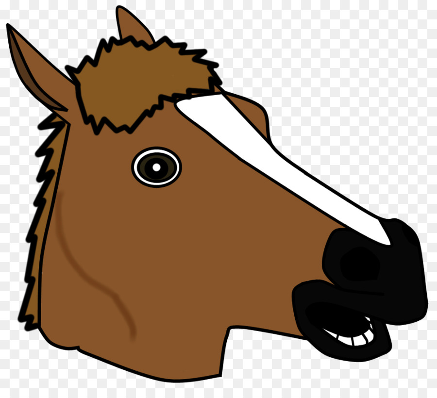 900x820 Horse Head Mask Clip Art
