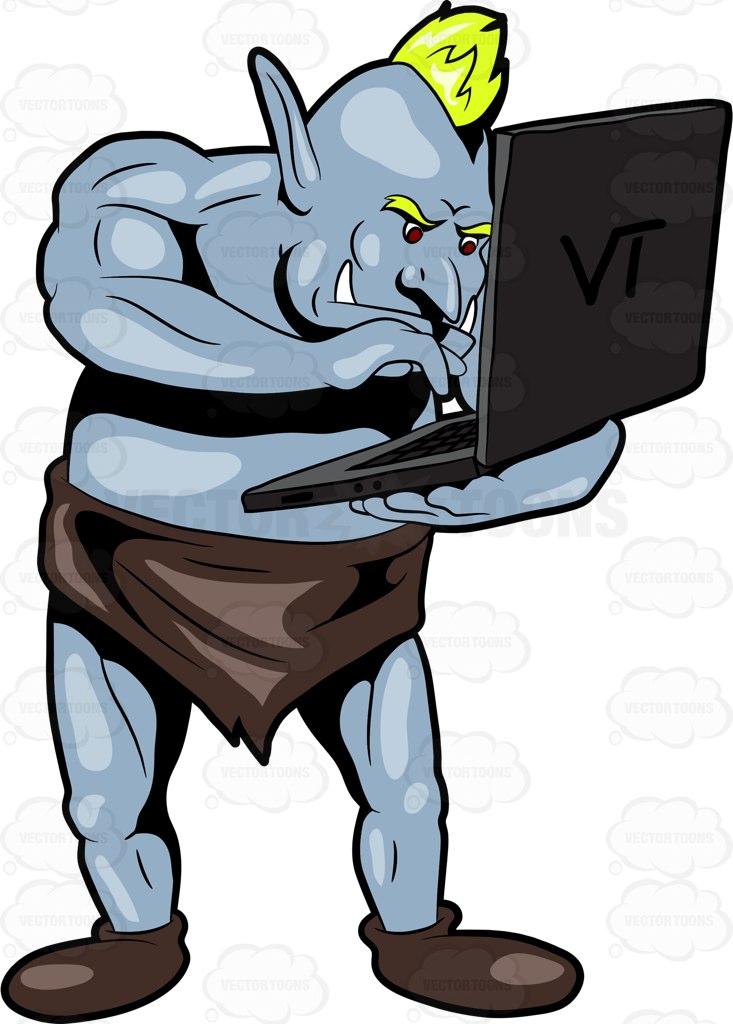 733x1024 An Internet Troll Curiously Surfing The Internet Using A Laptop