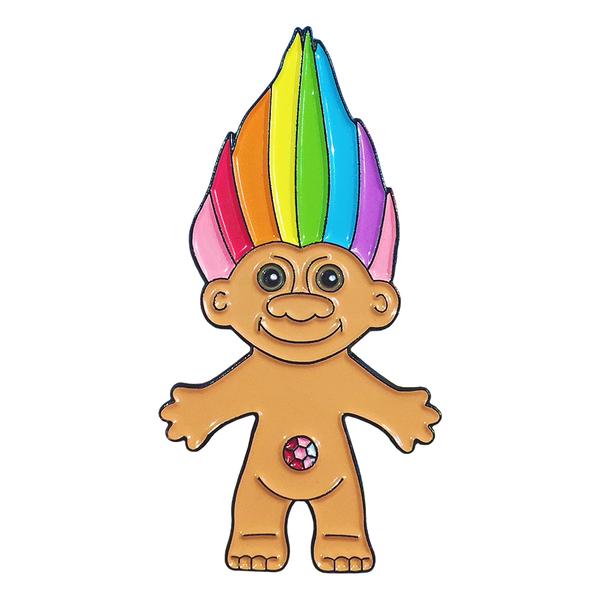 600x600 Rainbow Troll Pin Candy Doll Club