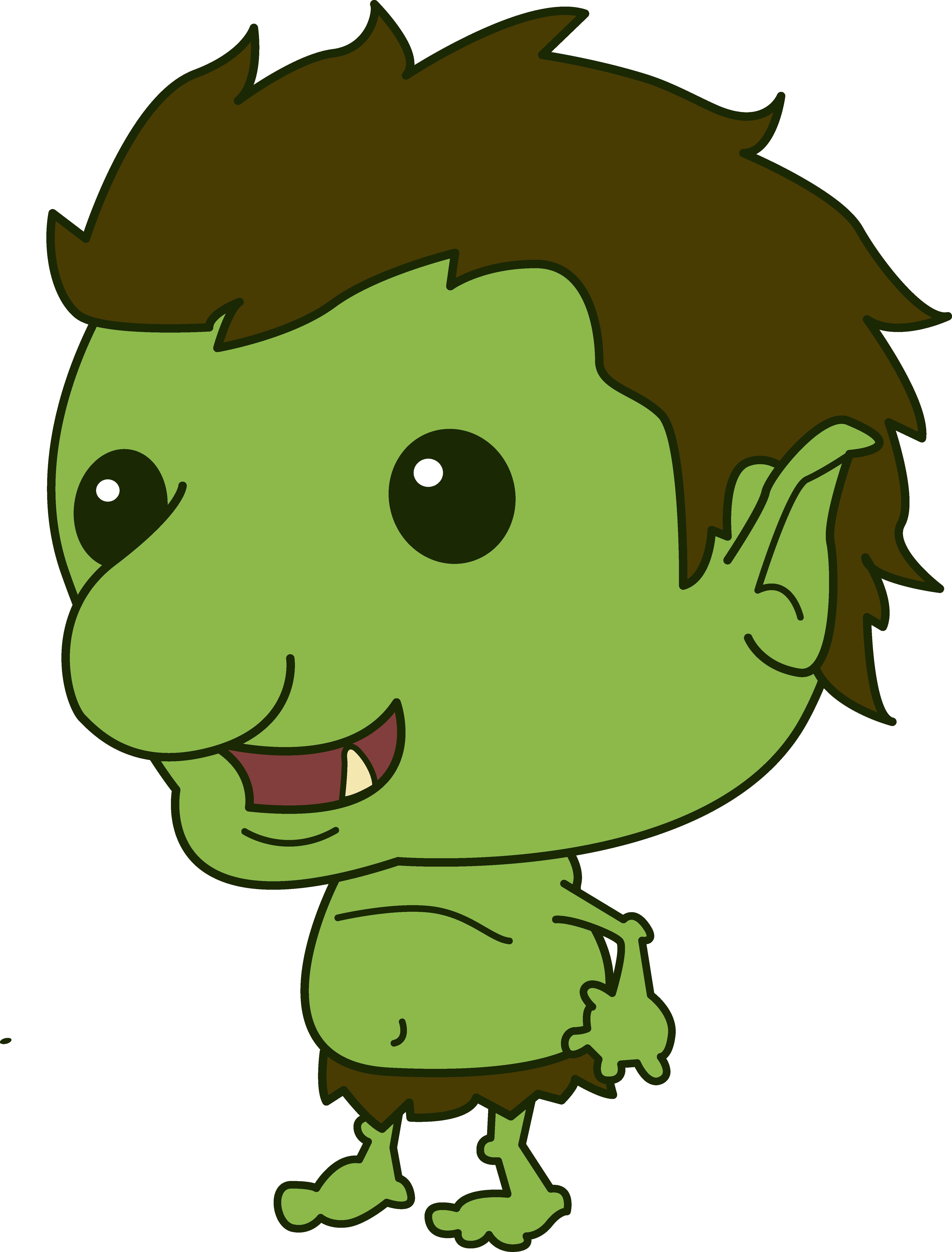 4745x6241 Cartoon Troll Smiling Vector Clip Art At Trolls Clipart Free