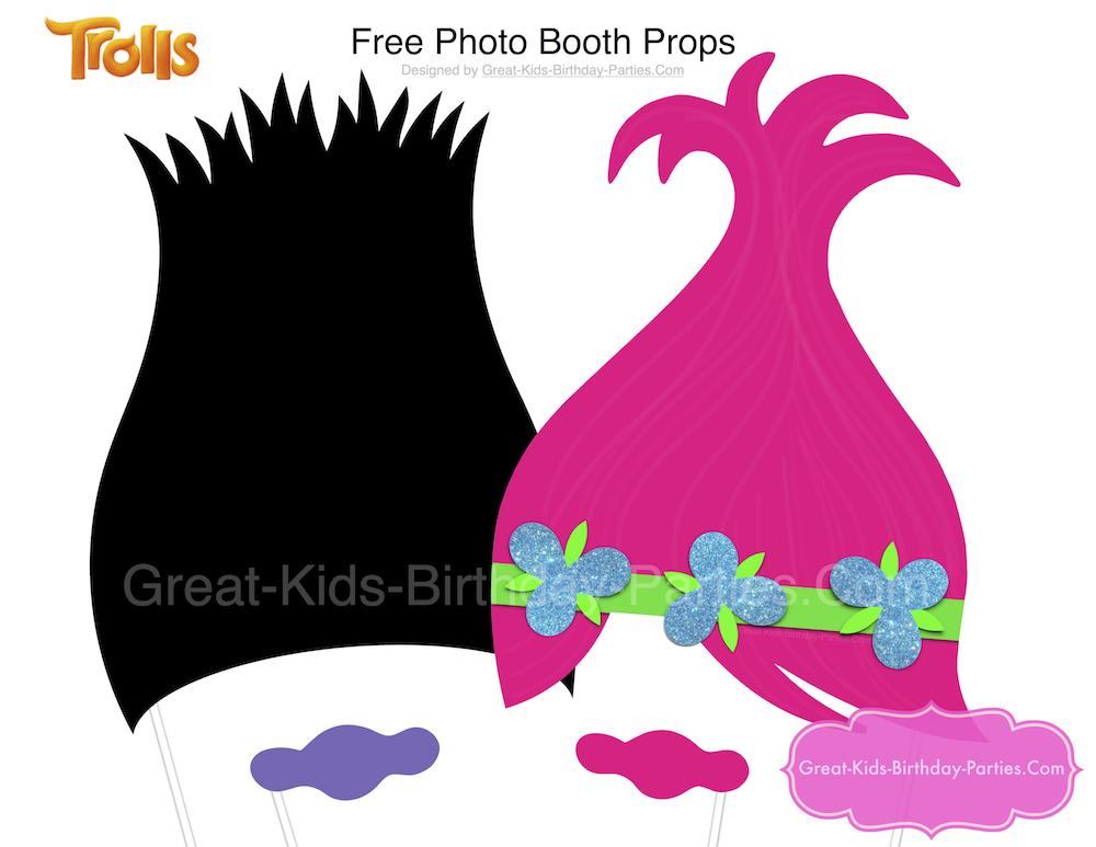 1000x773 Trolls Party Photo Booth, Troll Party And Fans