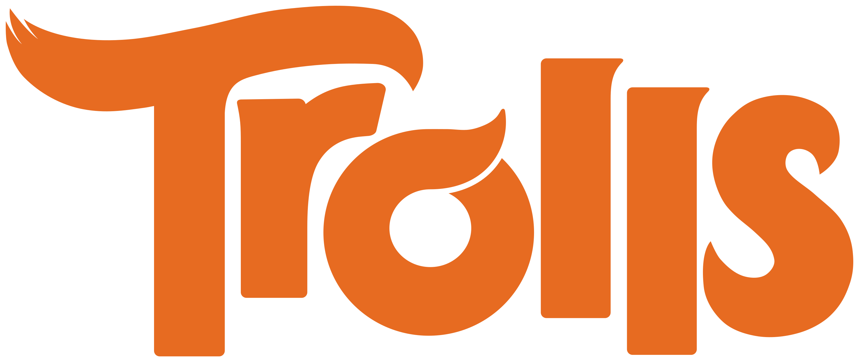 3000x1263 Trolls Logo Transparent Png