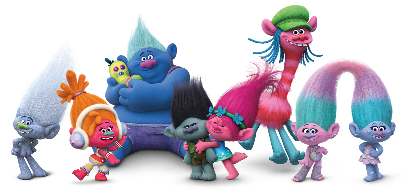 1340x646 Trolls Movie Logo, Voice Cast And Characters Teaser Trailer