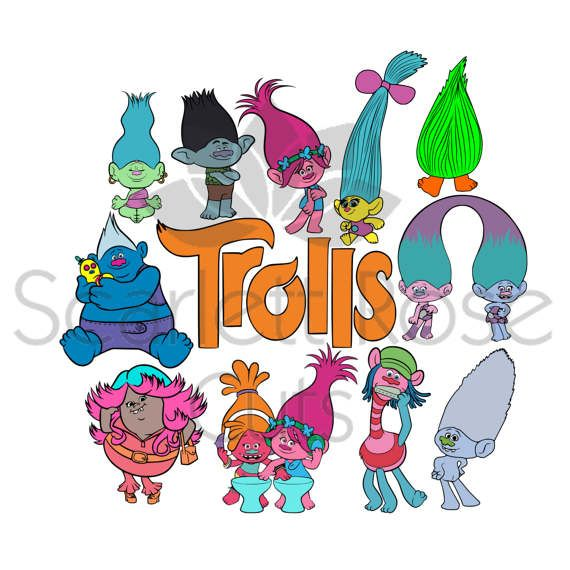 570x570 Trolls Movie Svg Cut Files These Files Can Be Used With (But Not