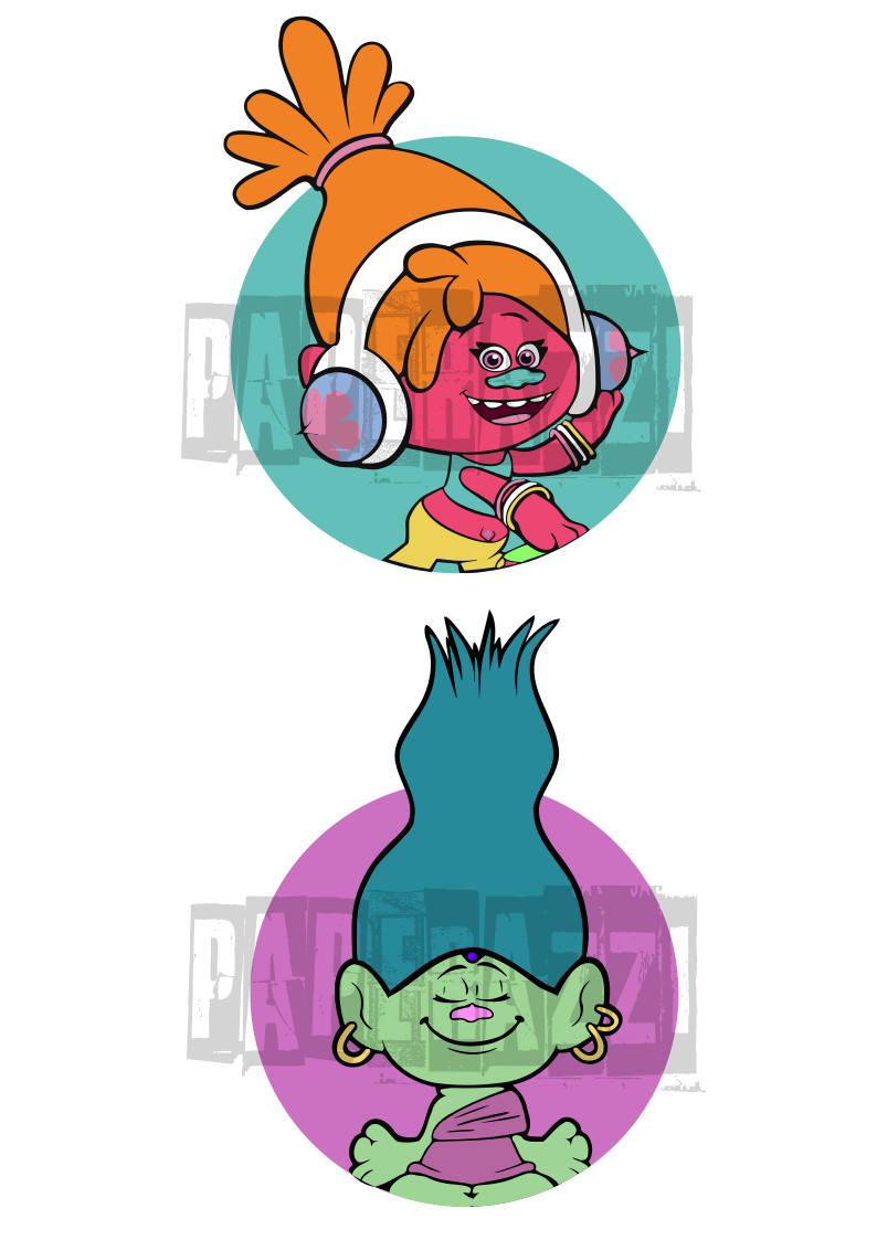 794x1123 Trolls Movie Svg Electronic Cutting Files For Cricut Design Space