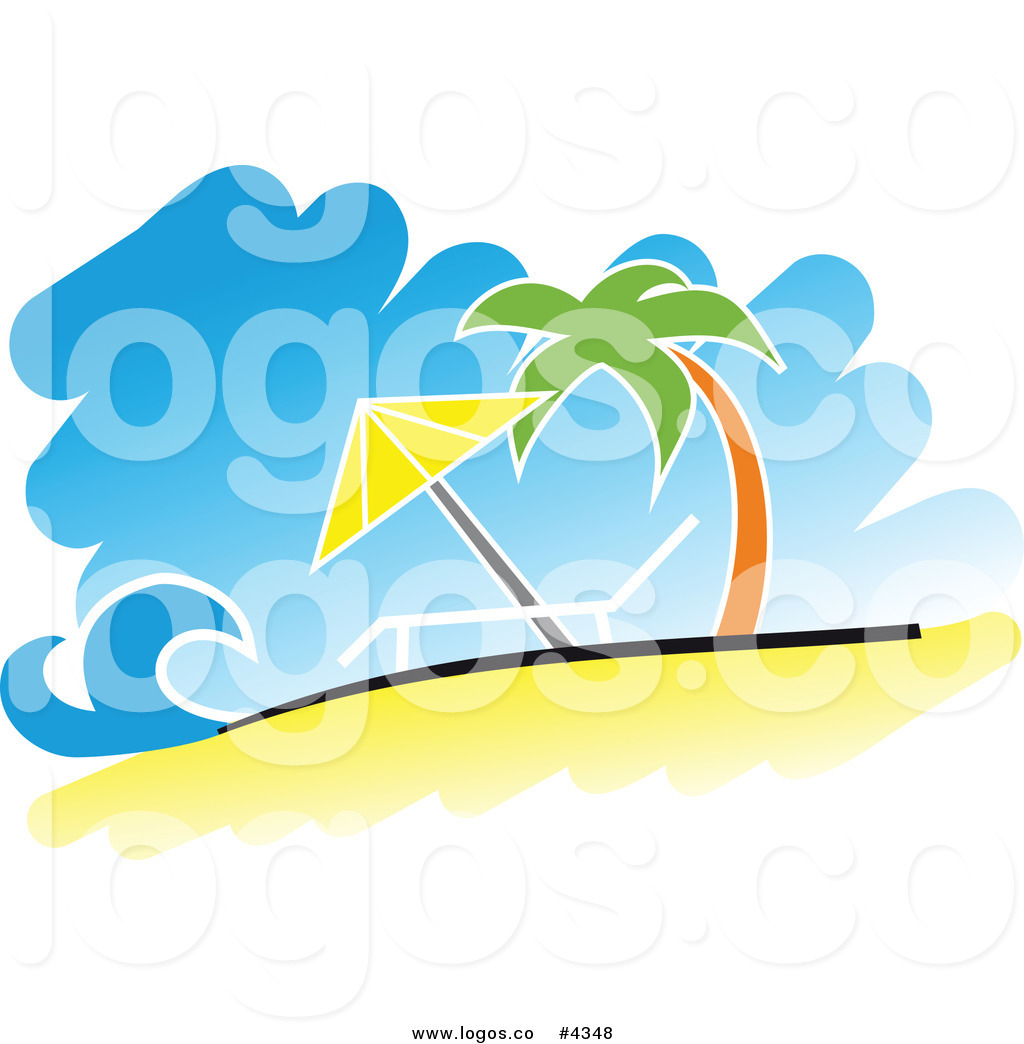 1024x1044 Royalty Free Tropical Beach Logo By Vector Tradition Sm