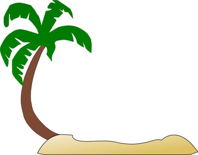 640x500 Tropical Beach Clip Art 250373