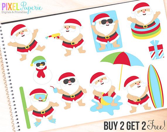 570x453 Santa Clipart Clip Art Summer Beach Tropical Pool