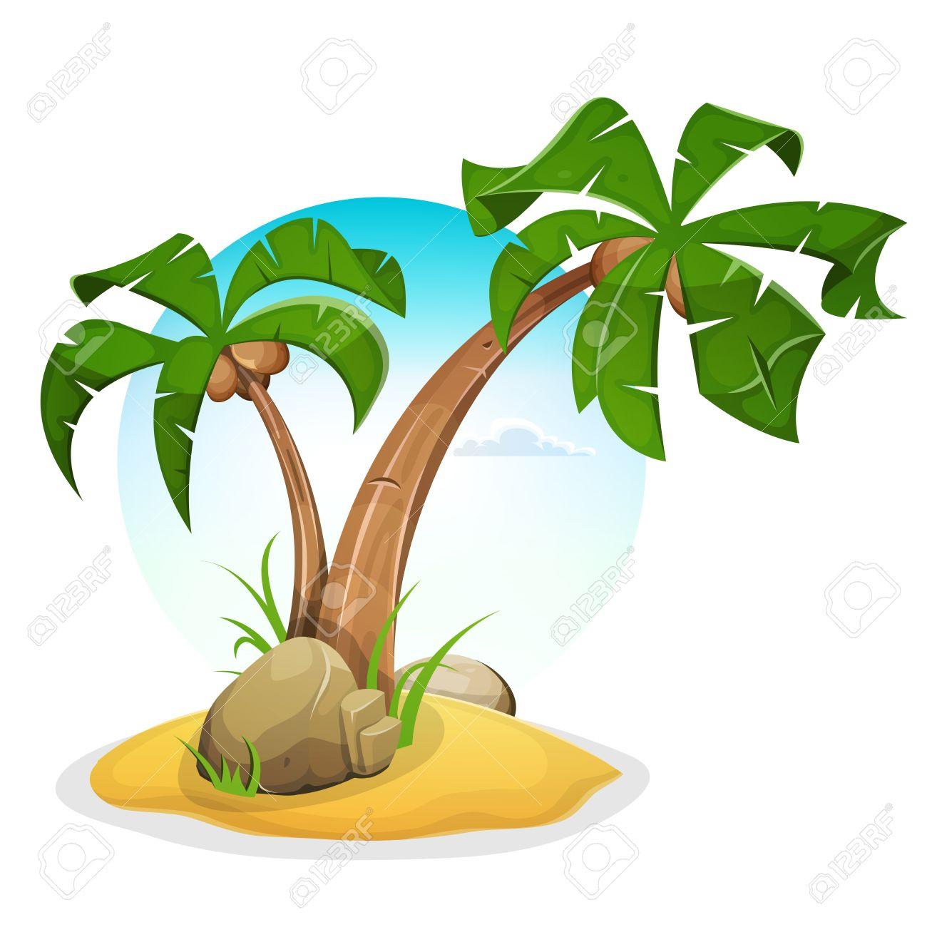 1300x1300 Clipart Palm Tree Beach Clip Art Pleasing Trees Transitionsfv