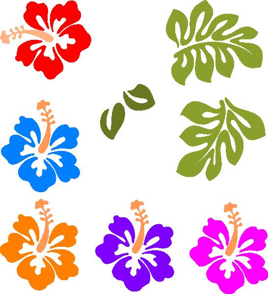 546x598 Hawaiian Flower Clip Art Tropical Mix Clip Art